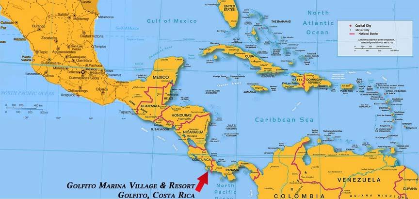 golfito central america map