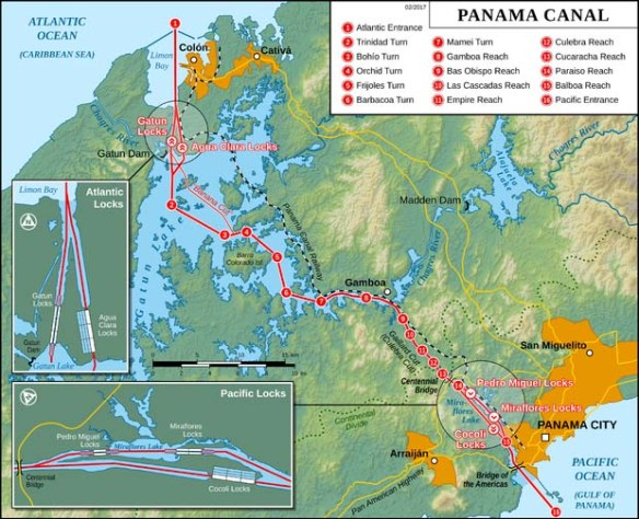 panama canal drawing